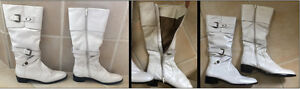 Austin Powers 60's GENUINE LEATHER White Knee-High Boots West Island Greater Montréal image 5