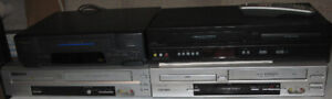 3 DVD/VCR Combos and 1 VCR ($30 for All)