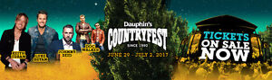 2 Weekend Passes For Sale! Dauphin Countryfest