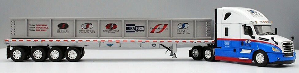 DCP First Gear 1:64 Freightliner Cascadia w/ Flatbed w/ I-Beam Load: SME Steel
