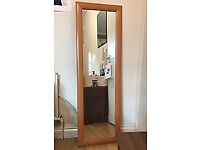 Pinewood Frame Mirror 140 cm By 45 cm Good Condition