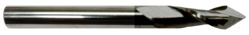 "1/4"" 2 FLUTE 60 DEGREE CARBIDE DRILL MILL - TiALN COATED"