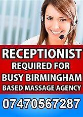 Receptionist Required in Birmingham B1