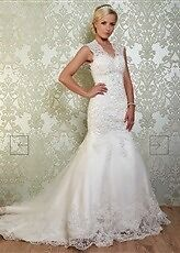 Viva bride Vintage wedding dress gown Size 8 - 10