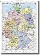 Wandkarte Deutschland