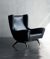 Pair of leather Montauk Francis chairs for sale