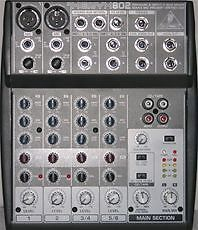 Behringer-XENYX802-6-Channel-Professional-DJ-Stereo-Mixer-Audio-EQ