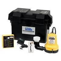 Back up sump pump with deep cycle battery