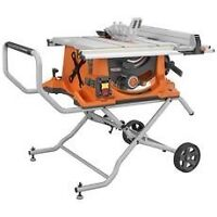 "Ridgid 10"" table saw with stand"