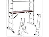 3 Way Combination Ladder Scaffold Aluminium Multi Purpose with Platform £60 No Offers