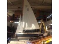 Cornish Crabber 12 ft sailing dinghy with combi road trailer/launching trolley and all kit.