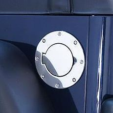 Gas Cap Door STAINLESS STEEL Wrangler 97-06