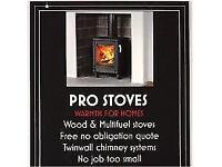 Wood & multifuel stove installation