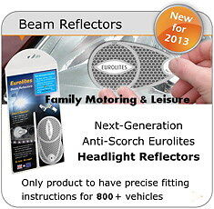 HEADLAMP BEAM DEFLECTORS HEAD LIGHT CONVERTORS ADAPTOR ANTI-SCORCH