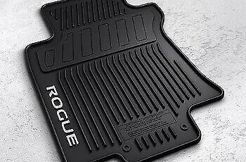 OEM NEW Front & Rear All Weather Floor Mat Set Black 14-19 Rogue 999E1-G2000 Black Rear Floor Mat