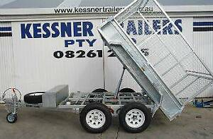 10x5 COMMERCIAL HYDRAULIC TIPPER TRAILER WITH CAGE BRAKES AND RAMPS Pooraka Salisbury Area Preview