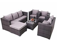 Two seater rattan sofa and chair