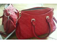 Louis Vuitton luxury hand bag suede lining