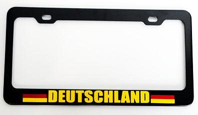 Deutschland Germany Heavy Duty Black License Plate Frame Tag Holder
