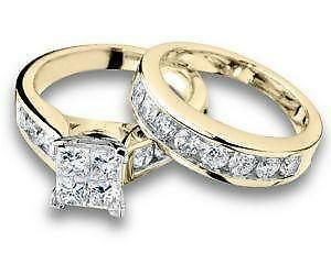 gold engagement ring sets - Ebay Wedding Ring Sets