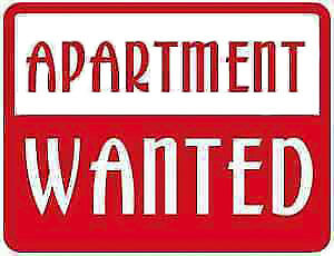 APARTMENT WANTED - 1 or 2 large bedroom