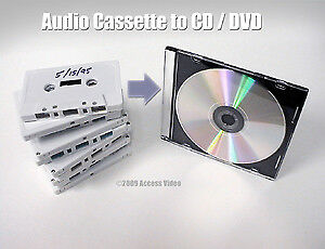 Service for converting audio-tapes/audio-cassetes to audio CD