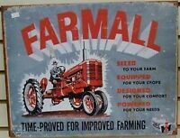 Collector Tin Sign - FARMALL - Time Proved - NEW