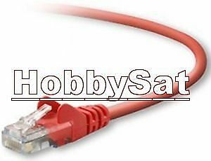 25 feet CAT5 cable Belkin snagless RJ45 FastCAT red network