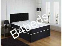 DOUBLE DIVAN BED WITH FOAM MATTRESS AND HEADBOARD