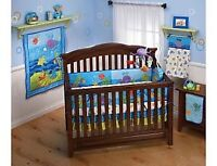 Crib bedding set Ocean wonders Ensemble literie pour le berceau