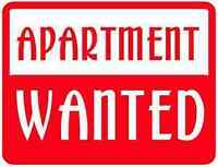 WANTED-1 or 1.5 BR. Apartment for Professional Working Couple.