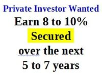 Private Investor Wanted  8-10% ROI Secured by more valued R.E.