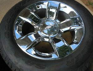 Silverado 20 factory chrome wheels tires new-New LOWER PRICE