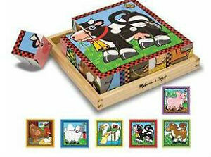 Melissa & Doug Farm Cube Puzzle + 2 others
