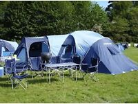 Tent -family sized Vango 900 . Also camp kitchen equipment