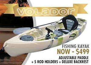 EOFY SALE New Volador Fishing Single Kayak - Backrest and Paddle Midland Swan Area Preview