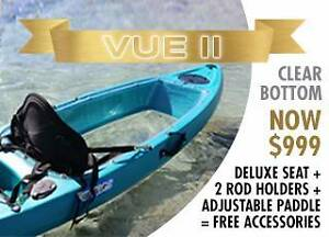 Clearance SALE New VUE 2 Clear Single Kayak - Backrest and Paddle Midland Swan Area Preview