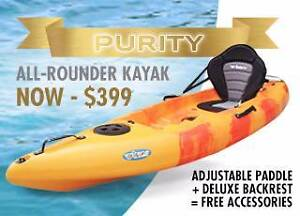 EOFY SALE New Purity Single Kayak - Backrest and Paddle Midland Swan Area Preview