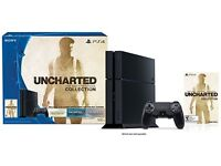 Sony PlayStation 4 500GB Jet Black Console + Controller + Nathan Drake Collection