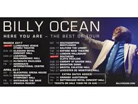 Billy Ocean 'Here You Are' 2017 Tour tickets FOR SALE!