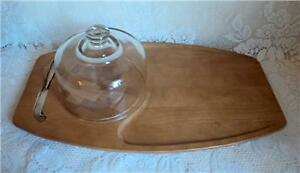 Vtg MCM Baribocraft Items Salt Pepper Domed Cheese Board Salad