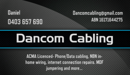 Phone, internet and data cabling- installation & repairs