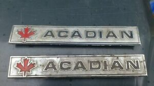 acadian 68 - 71 pieces emblems
