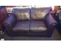 Leather 2 Seater Deep Brown Sofa,in great condition