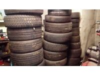 Job lot of quality part worn tyres