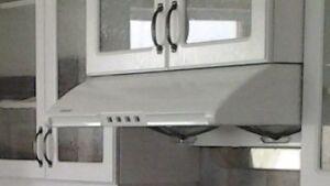 Fan - hotte de cuisine blanche -