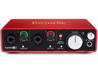 Focusrite Scarlett 2i2 Mk2 192khz Usb 2.0 Audio Interface W/ Pro BRAND NEW £90