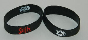 Star-Wars-Sith-Name-and-Imperial-Logos-Black-Rubber-Wrist-Sport-Band-NEW-UNUSED