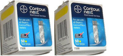 Contour Next Diabetic Blood Glucose Test Strips, 2 x 50ct Box