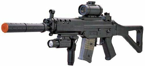 Ready to Play Assault Rifle SG 552 Airsoft Electric Gun with Scope, Speedloader